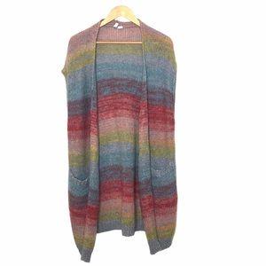 Moth Anthropologie Rainbow Sweater Vest Duster S
